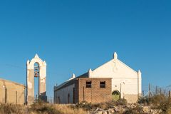 Rietfontein的历史的教会北开普省省的 免版税库存图片
