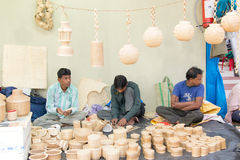 Rietfurnitures, Indische ambachtenmarkt Stock Afbeeldingen