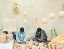 Rietfurnitures, Indische ambachtenmarkt Royalty-vrije Stock Foto's