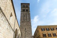 Rieti (Italië), kathedraal Stock Foto's
