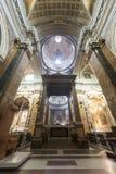 Rieti (Italië), kathedraalbinnenland Stock Foto's