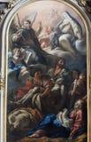 Rieti (Italië), kathedraalbinnenland Stock Afbeeldingen
