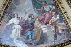 Rieti (Italia), interior de la catedral Imagen de archivo libre de regalías