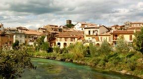 Rieti, Italiaanse stad Stock Fotografie
