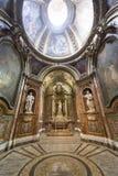 Rieti (Italien), domkyrkainre Royaltyfri Fotografi