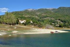 Rieti - lac Turano Photos libres de droits