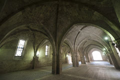 Rieti (Lazio, Italië) - Historisch portiek royalty-vrije stock foto's
