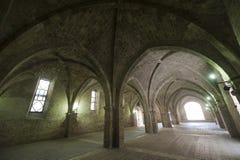 Rieti (Lazio, Italien) - historischer Portico Lizenzfreie Stockfotos