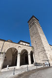 Rieti (Lazio, Italy) - Medieval cathedral Royalty Free Stock Photos