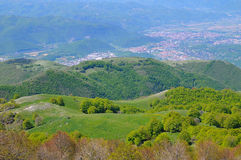 Rieti Town from the Terminillo Mountain Stock Photos