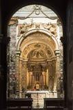 Rieti (Włochy), katedralny wnętrze Obraz Stock