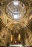 Rieti (Włochy), katedralny wnętrze Obraz Royalty Free