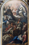 Rieti (Włochy), katedralny wnętrze Obrazy Stock