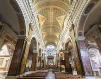 Rieti (Włochy), katedralny wnętrze Zdjęcie Royalty Free