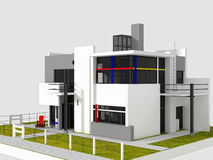 Rietveld Schroder东部视图 库存图片