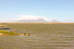 Rietvlei in Table Bay Nature Reserve with Table  Mountain in the background, Cape Town, South Africa Stock Image