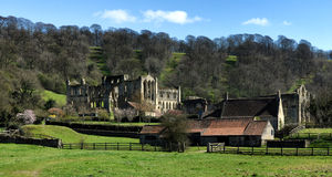 Rievaulx Abbey with Stables Royalty Free Stock Photography