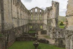 Rievaulx-Abtei, North Yorkshire macht, North Yorkshire, England fest Stockfotografie