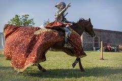 Rievocandum2015 Cavalieri Royaltyfri Foto