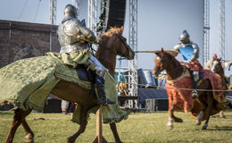 Rievocandum2015 Cavalieri Royaltyfria Bilder