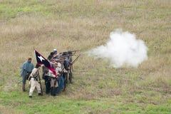 Rievocazione della guerra civile Fotografie Stock