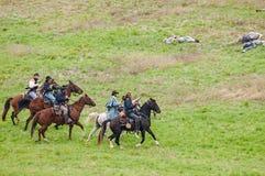Rievocazione della guerra civile Fotografia Stock