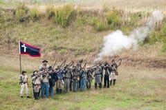 Rievocazione della guerra civile Immagini Stock Libere da Diritti