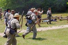 Rievocazione della guerra civile Fotografie Stock Libere da Diritti