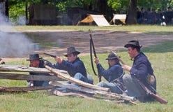 Rievocazione della guerra civile Fotografia Stock Libera da Diritti