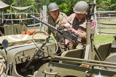 Rievocazione di battaglia della seconda guerra mondiale Fotografie Stock Libere da Diritti