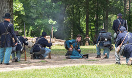 Rievocazione di battaglia di Gettysburg immagine stock libera da diritti