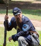 Rievocazione di battaglia di Gettysburg immagini stock libere da diritti