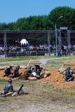 Rievocazione di battaglia di Nivelle del tritatore Fotografia Stock
