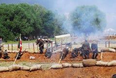 Rievocazione di battaglia di Osovets Immagine Stock