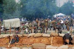 Rievocazione di battaglia di Osovets Immagini Stock