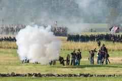 Rievocazione di Gettysburgbattle Fotografia Stock