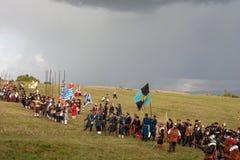 Rievocazione storica a d 1615 Fotografia Stock