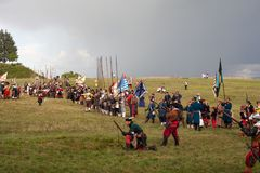Rievocazione storica a d 1615 Fotografia Stock Libera da Diritti