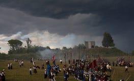 Rievocazione storica a d 1615 Fotografie Stock