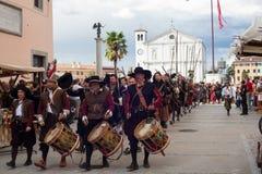 Rievocazione storica a di Palmanova d 1615 Fotografia Stock