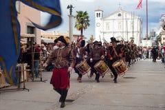 Rievocazione storica a di Palmanova d 1615 Immagine Stock
