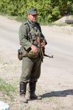 Rievocazione storica di WWII a Kiev, Ucraina Immagini Stock