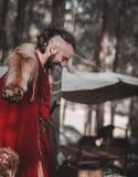 Rievocazione storica medievale Fotografia Stock