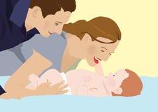 Riez un bébé Photos libres de droits