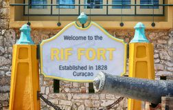 Rif Fort, Curaçao images stock