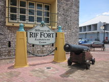 Rif Fort Sign, Curaçao Photos stock