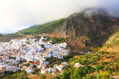 Rif Mountains and Old Medina of Chefchaouen Royalty Free Stock Photo