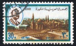 Rifaei e Sultan Hussein Mosques fotografie stock libere da diritti