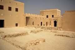 Riffa fort, Bahrain Royaltyfria Bilder