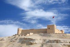 Riffa fort from the hillock of Hunanaiya valley Royalty Free Stock Photography
